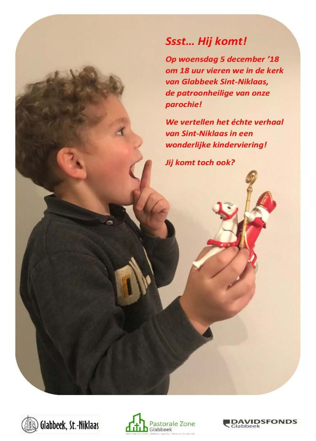 Uitnodiging Sint-Niklaasviering