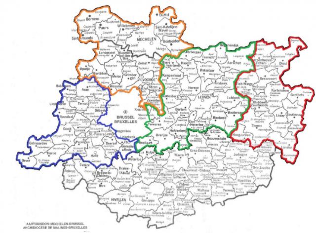 kaartje regio's